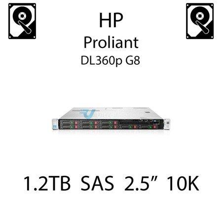"""1.2TB 2.5"""" dedykowany dysk serwerowy SAS do serwera HP ProLiant DL360p G8, HDD Enterprise 10k, 6Gbps - 718292-001 (REF)"""