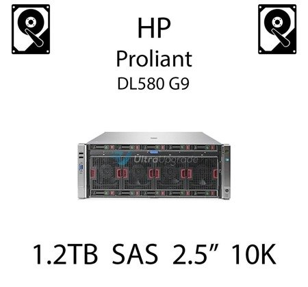 """1.2TB 2.5"""" dedykowany dysk serwerowy SAS do serwera HP Proliant DL580 G9, HDD Enterprise 10k, 12Gbps - 781518-B21 (REF)"""