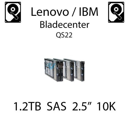 "1.2TB 2.5"" dedykowany dysk serwerowy SAS do serwera Lenovo / IBM Bladecenter QS22, HDD Enterprise 10k, 600MB/s - 00AD075"