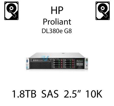 """1.8TB 2.5"""" dedykowany dysk serwerowy SAS do serwera HP ProLiant DL380e G8, HDD Enterprise 10k, 12Gbps - 791055-001 (REF)"""