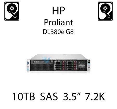 """10TB 3.5"""" dedykowany dysk serwerowy SAS do serwera HP ProLiant DL380e G8, HDD Enterprise 7.2k, 12Gbps - 857965-001 (REF)"""