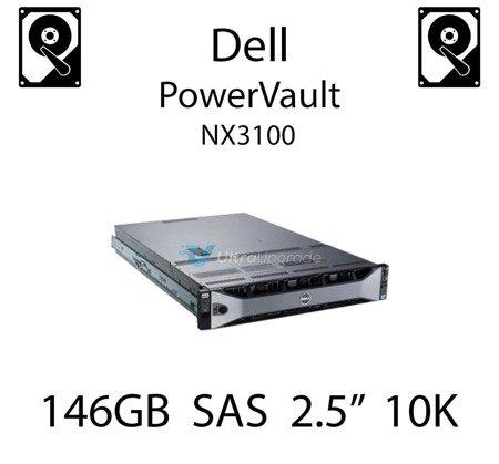 """146GB 2.5"""" dedykowany dysk serwerowy SAS do serwera Dell PowerVault NX3100, HDD Enterprise 10k, 300MB/s - CM318"""
