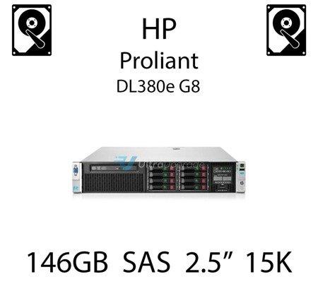"""146GB 2.5"""" dedykowany dysk serwerowy SAS do serwera HP ProLiant DL380e G8, HDD Enterprise 15k - 652605-B21 (REF)"""