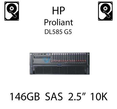 """146GB 2.5"""" dedykowany dysk serwerowy SAS do serwera HP ProLiant DL585 G5, HDD Enterprise 10k - 507125-B21 (REF)"""