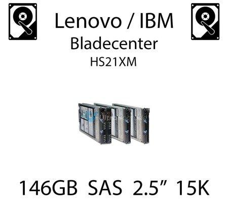"""146GB 2.5"""" dedykowany dysk serwerowy SAS do serwera Lenovo / IBM Bladecenter HS21XM, HDD Enterprise 15k, 600MB/s - 90Y8944"""