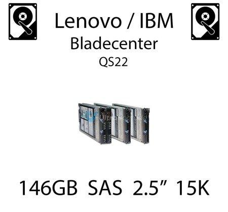 """146GB 2.5"""" dedykowany dysk serwerowy SAS do serwera Lenovo / IBM Bladecenter QS22, HDD Enterprise 15k, 600MB/s - 90Y8926"""
