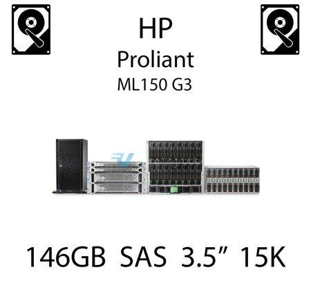 """146GB 3.5"""" dedykowany dysk serwerowy SAS do serwera HP ProLiant ML150 G3, HDD Enterprise 15k, 3072MB/s - 376595-001 (REF)"""