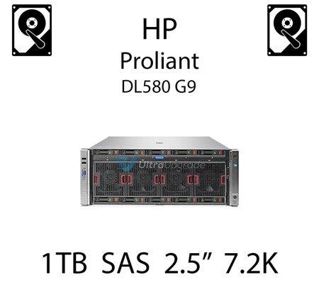 """1TB 2.5"""" dedykowany dysk serwerowy SAS do serwera HP Proliant DL580 G9, HDD Enterprise 7.2k, 12Gbps - 765872-001 (REF)"""