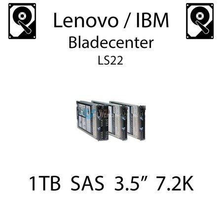 """1TB 3.5"""" dedykowany dysk serwerowy SAS do serwera Lenovo / IBM Bladecenter LS22, HDD Enterprise 7.2k, 600MB/s - 90Y8567"""