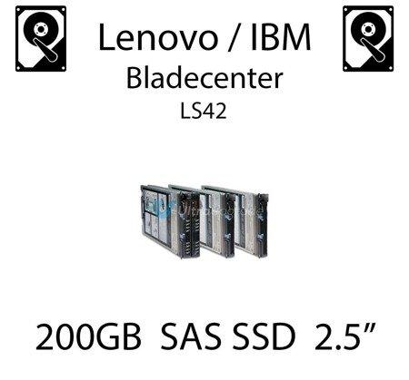 "200GB 2.5"" dedykowany dysk serwerowy SAS do serwera Lenovo / IBM Bladecenter LS42, SSD Enterprise , 600MB/s - 49Y6144"