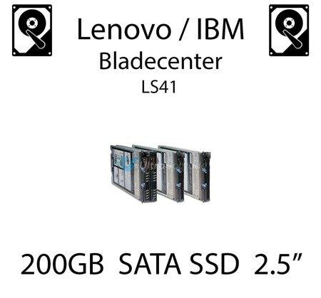 """200GB 2.5"""" dedykowany dysk serwerowy SATA do serwera Lenovo / IBM Bladecenter LS41, SSD Enterprise , 300MB/s - 43W7718"""