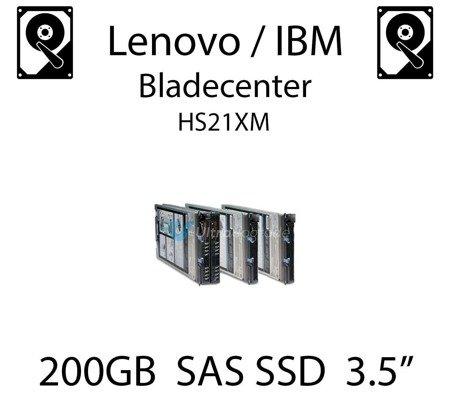 """200GB 3.5"""" dedykowany dysk serwerowy SAS do serwera Lenovo / IBM Bladecenter HS21XM, SSD Enterprise , 600MB/s - 00W1306"""