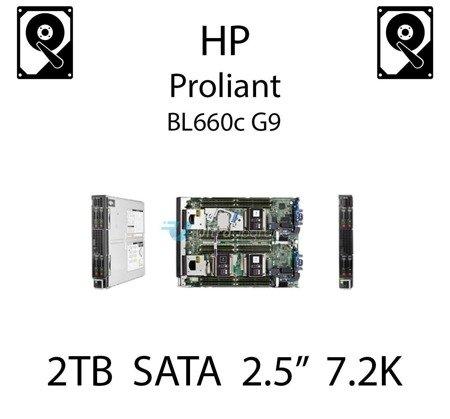 """2TB 2.5"""" dedykowany dysk serwerowy SATA do serwera HP ProLiant BL660c G9, HDD Enterprise 7.2k, 6Gbps - 765869-001   (REF)"""