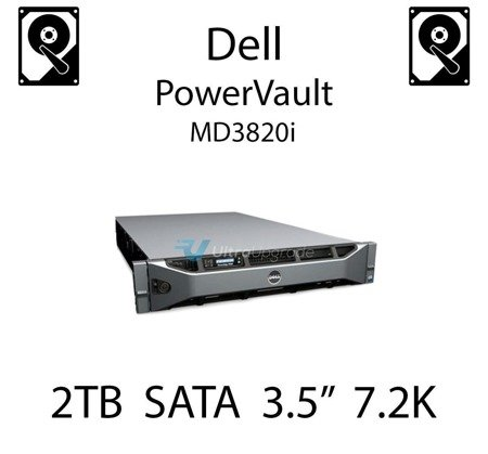 """2TB 3.5"""" dedykowany dysk serwerowy SATA do serwera Dell PowerVault MD3820i, HDD Enterprise 7.2k, 6Gbps - 835R9"""