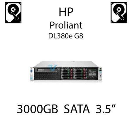 """3000GB 3.5"""" dedykowany dysk serwerowy SATA do serwera HP ProLiant DL380e G8, HDD Enterprise 7.2k, 6Gbps - 628182-001 (REF)"""