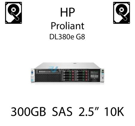 """300GB 2.5"""" dedykowany dysk serwerowy SAS do serwera HP ProLiant DL380e G8, HDD Enterprise 10k, 12Gbps - 785067-B21 (REF)"""