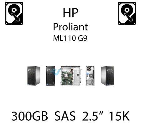 """300GB 2.5"""" dedykowany dysk serwerowy SAS do serwera HP ProLiant ML110 G9, HDD Enterprise 15k - 652611-B21 (REF)"""