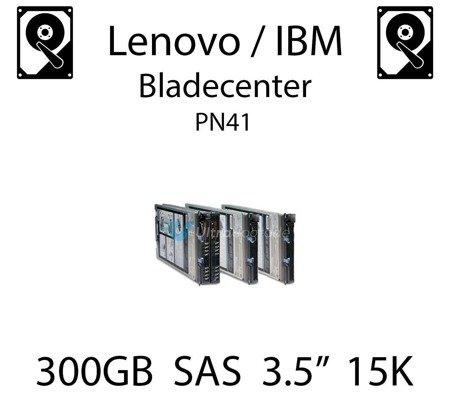 "300GB 3.5"" dedykowany dysk serwerowy SAS do serwera Lenovo / IBM Bladecenter PN41, HDD Enterprise 15k, 600MB/s - 44W2234"
