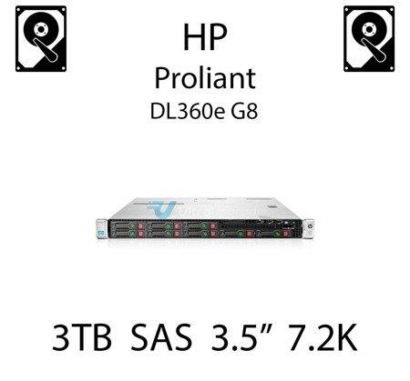 """3TB 3.5"""" dedykowany dysk serwerowy SAS do serwera HP Proliant DL360e G8, HDD Enterprise 7.2k, 6Gbps - 652766-B21 (REF)"""