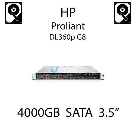 """4000GB 3.5"""" dedykowany dysk serwerowy SATA do serwera HP ProLiant DL360p G8, HDD Enterprise 7.2k, 6Gbps - 693687-B21 (REF)"""