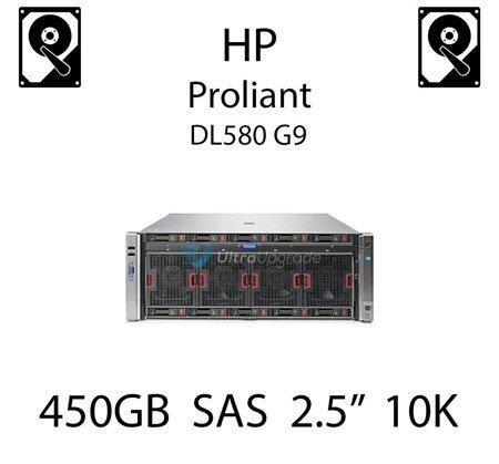 """450GB 2.5"""" dedykowany dysk serwerowy SAS do serwera HP Proliant DL580 G9, HDD Enterprise 10k, 6Gbps - 652572-B21 (REF)"""