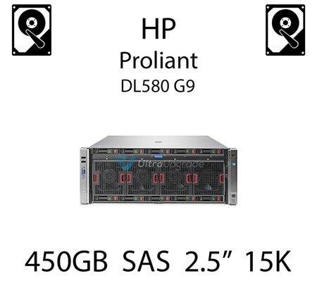 """450GB 2.5"""" dedykowany dysk serwerowy SAS do serwera HP Proliant DL580 G9, HDD Enterprise 15k, 12Gb/s - 759210-B21 (REF)"""