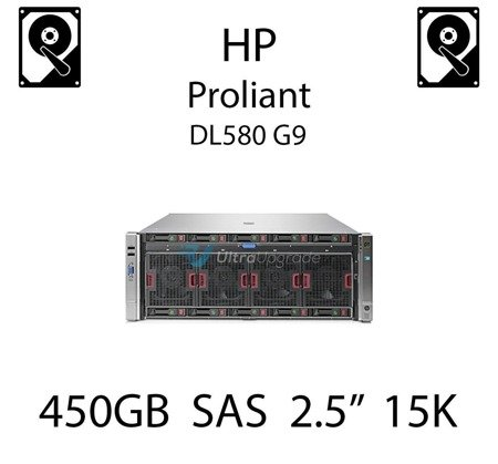 """450GB 2.5"""" dedykowany dysk serwerowy SAS do serwera HP Proliant DL580 G9, HDD Enterprise 15k, 12Gb/s - 759547-001 (REF)"""