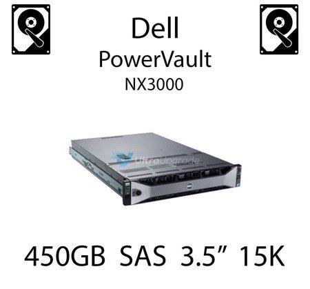 "450GB 3.5"" dedykowany dysk serwerowy SAS do serwera Dell PowerVault NX3000, HDD Enterprise 15k, 6Gbps - X163K"