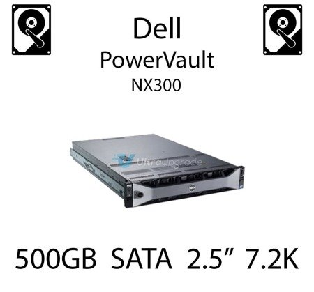 """500GB 2.5"""" dedykowany dysk serwerowy SATA do serwera Dell PowerVault NX300, HDD Enterprise 7.2k, 300MB/s - J770N"""