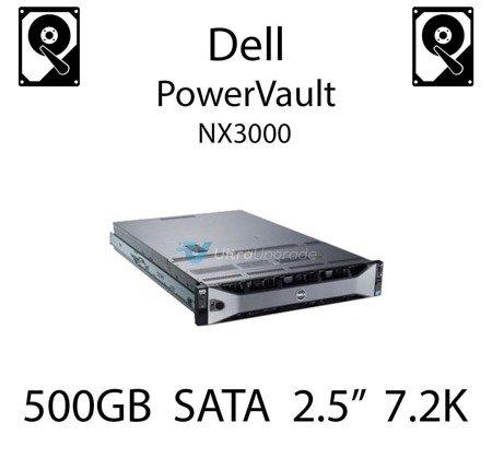 """500GB 2.5"""" dedykowany dysk serwerowy SATA do serwera Dell PowerVault NX3000, HDD Enterprise 7.2k, 300MB/s - J770N"""