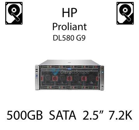 """500GB 2.5"""" dedykowany dysk serwerowy SATA do serwera HP Proliant DL580 G9, HDD Enterprise 7.2k, 6Gbps - 655708-B21   (REF)"""