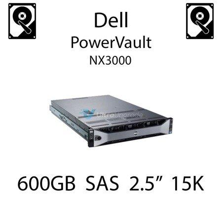 """600GB 2.5"""" dedykowany dysk serwerowy SAS do serwera Dell PowerVault NX3000, HDD Enterprise 15k - 400-AHMW"""