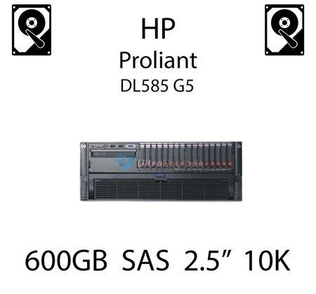 """600GB 2.5"""" dedykowany dysk serwerowy SAS do serwera HP ProLiant DL585 G5, HDD Enterprise 10k - 581286-B21 (REF)"""