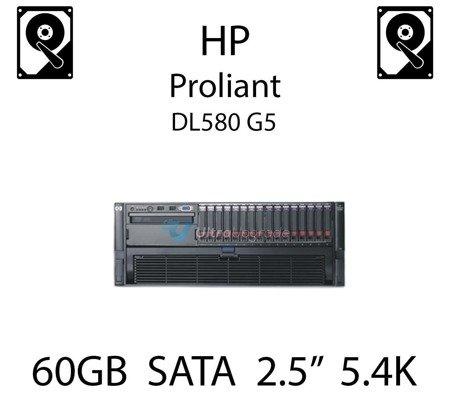 """60GB 2.5"""" dedykowany dysk serwerowy SATA do serwera HP ProLiant DL580 G5, HDD Enterprise 5.4k, 150MB/s - 379306-B21 (REF)"""