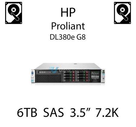 """6TB 3.5"""" dedykowany dysk serwerowy SAS do serwera HP ProLiant DL380e G8, HDD Enterprise 7.2k, 600MB/s - 761477-B21 (REF)"""