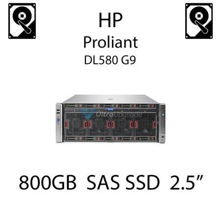 """800GB 2.5"""" dedykowany dysk serwerowy SAS do serwera HP Proliant DL580 G9, SSD Enterprise  - 762261-B21 (REF)"""