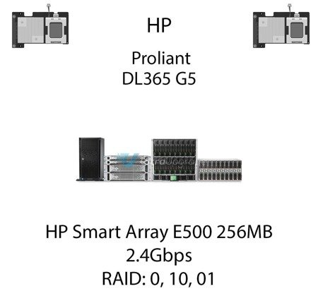 Kontroler RAID HP Smart Array E500 256MB, 2.4Gbps - 435129-B21